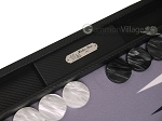picture of Hector Saxe Carbon Linen/Felt Backgammon Set - Black (8 of 12)
