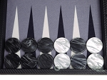 picture of Hector Saxe Carbon Linen/Felt Backgammon Set - Black (9 of 12)