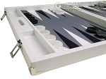 picture of Hector Saxe Carbon Linen/Felt Backgammon Set - White (5 of 12)