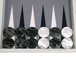 picture of Hector Saxe Carbon Linen/Felt Backgammon Set - White (9 of 12)