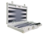 picture of Hector Saxe Carbon Linen/Felt Backgammon Set - White (10 of 12)