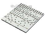 picture of Double 6 Dominoes Set - Black Back - Beige Leather Case (5 of 6)