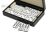 picture of Double 6 Dominoes Set - Black Back - Black Croco Case (3 of 6)