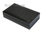 picture of Double 6 Dominoes Set - Black Back - Black Croco Case (4 of 6)