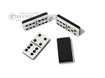 picture of Double 6 Dominoes Set - Black Back - Black Croco Case (6 of 6)