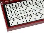 picture of Double 6 Dominoes Set - Black Back - Red Croco Case (2 of 6)