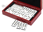 picture of Double 6 Dominoes Set - Black Back - Red Croco Case (3 of 6)