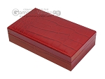 picture of Double 6 Dominoes Set - Black Back - Red Croco Case (4 of 6)