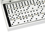picture of Double 6 Dominoes Set - Black Back - White Croco Case (2 of 6)