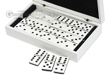 picture of Double 6 Dominoes Set - Black Back - White Croco Case (3 of 6)