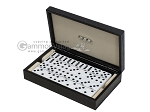 Double 6 Dominoes Set - Black Croco Case - Item: 2465