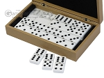 picture of Double 6 Dominoes Set - Beige Leather Case (3 of 6)