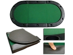 84in. Tri-Fold Poker Table Top w/ Cup Holders - Item: 2602