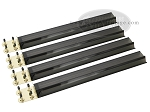Mah Jong Tile Racks - Acrylic - Black Clear - Set of 4
