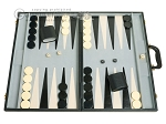 picture of 21-inch Tournament Backgammon Set - Black (1 of 11)