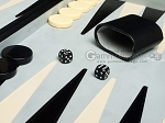 picture of 21-inch Tournament Backgammon Set - Black (7 of 11)