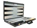 picture of 21-inch Tournament Backgammon Set - Black (10 of 11)