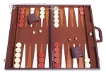 picture of 21-inch Tournament Backgammon Set - Brown (1 of 11)
