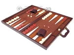picture of 21-inch Tournament Backgammon Set - Brown (3 of 11)