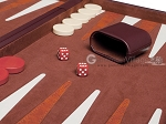 picture of 21-inch Tournament Backgammon Set - Brown (7 of 11)