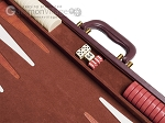 picture of 21-inch Tournament Backgammon Set - Brown (8 of 11)