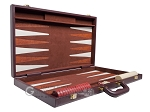 picture of 21-inch Tournament Backgammon Set - Brown (10 of 11)