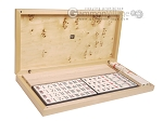 Dal Negro Grand American Mah Jong Set - Ivory Tiles - Wood Case - Poplar Root Wood
