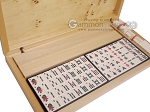 picture of Dal Negro Grand American Mah Jong Set - Ivory Tiles - Wood Case - Poplar Root Wood (2 of 10)