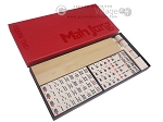 Dal Negro Deluxe American Mah Jong Set - Ivory Tiles - Cardboard Case - Red - Item: 1371