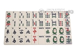 picture of Dal Negro Deluxe American Mah Jong Set - Ivory Tiles - Cardboard Case - Red (3 of 8)