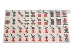 picture of Dal Negro Deluxe American Mah Jong Set - Ivory Tiles - Cardboard Case - Red (4 of 8)
