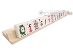 picture of Dal Negro Grand American Mah Jong Set - Ivory Tiles - Wood Case - Burlwood (8 of 10)