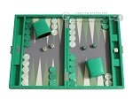 Hector Saxe Faux Lizard Travel Backgammon Set - Anise Green - Item: 2492
