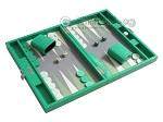 picture of Hector Saxe Faux Lizard Travel Backgammon Set - Anise Green (2 of 12)