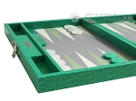 picture of Hector Saxe Faux Lizard Travel Backgammon Set - Anise Green (5 of 12)