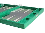 picture of Hector Saxe Faux Lizard Travel Backgammon Set - Anise Green (6 of 12)