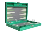 picture of Hector Saxe Faux Lizard Travel Backgammon Set - Anise Green (11 of 12)