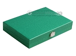 picture of Hector Saxe Faux Lizard Travel Backgammon Set - Anise Green (12 of 12)