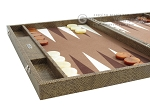 picture of Hector Saxe Faux Snake Backgammon Set - Medium - Beige (5 of 12)