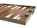 picture of Hector Saxe Faux Snake Backgammon Set - Medium - Beige (6 of 12)