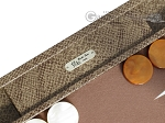 picture of Hector Saxe Faux Snake Backgammon Set - Medium - Beige (7 of 12)