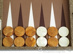 picture of Hector Saxe Faux Snake Backgammon Set - Medium - Beige (8 of 12)