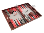picture of Hector Saxe Faux Snake Backgammon Set - Medium - Maroon (2 of 12)