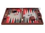 picture of Hector Saxe Faux Snake Backgammon Set - Medium - Maroon (4 of 12)