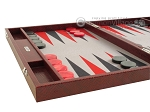 picture of Hector Saxe Faux Snake Backgammon Set - Medium - Maroon (5 of 12)