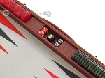 picture of Hector Saxe Faux Snake Backgammon Set - Medium - Maroon (9 of 12)