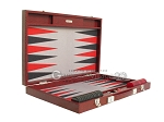 picture of Hector Saxe Faux Snake Backgammon Set - Medium - Maroon (10 of 12)