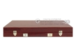 picture of Hector Saxe Faux Snake Backgammon Set - Medium - Maroon (12 of 12)