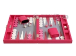 picture of Hector Saxe Faux Lizard Travel Backgammon Set - Fuchsia (4 of 12)