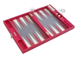 picture of Hector Saxe Faux Lizard Travel Backgammon Set - Fuchsia (10 of 12)
